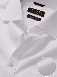 Antonello White Cotton Classic Fit Formal Solid Shirt