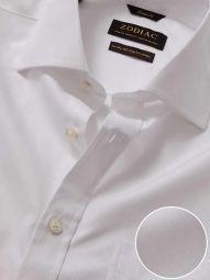 Bertolucci White Cotton Classic Fit Formal Solid Shirt