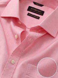 Carulli Pink Cotton Classic Fit Formal Checks Shirt