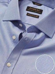 Cione Blue Cotton Classic Fit Formal Checks Shirt