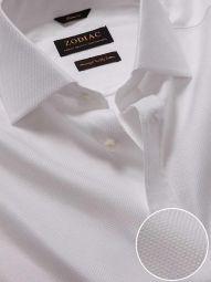 Cione White Cotton Classic Fit Formal Checks Shirt