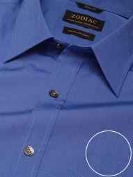 Fil A Fil Ink Cotton Classic Fit Evening Solid Shirt