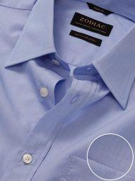 Fil A Fil Sky Cotton Classic Fit Casual Solid Shirt