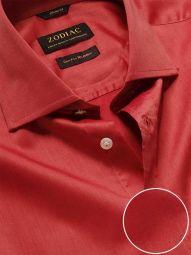 Fine Orange Cotton Classic Fit Evening Solid Shirt