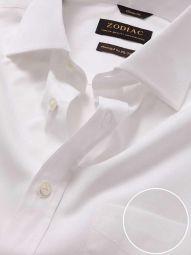 Premium White Cotton Classic Fit Formal Solid Shirt