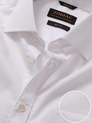 Splendido White Cotton Classic Fit Formal Solid Shirt