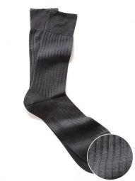 Moderena Melange Rib Dark Grey Socks