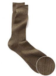 Moderena Melange Rib Olive Socks