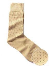Micro Dot Beige Socks