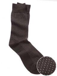 Micro Dot Black Socks
