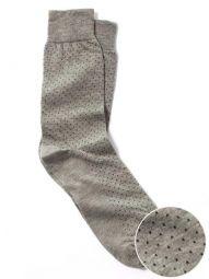 Micro Dot Grey Black Socks