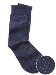 Micro Dot Navy Socks